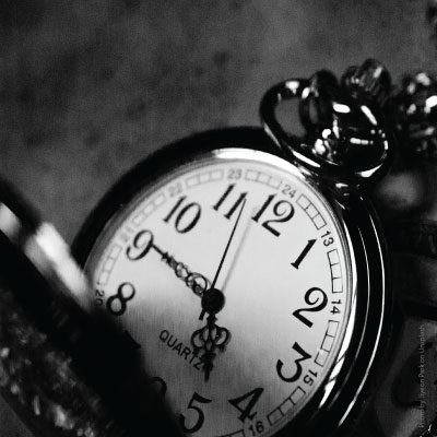 pocketwatch gray background