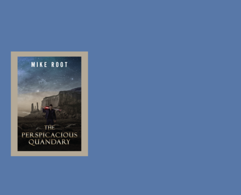 The Perspicacious Quandary book cover blue background