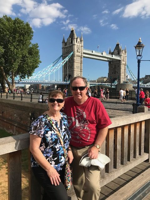Donna Mike London Bridge background