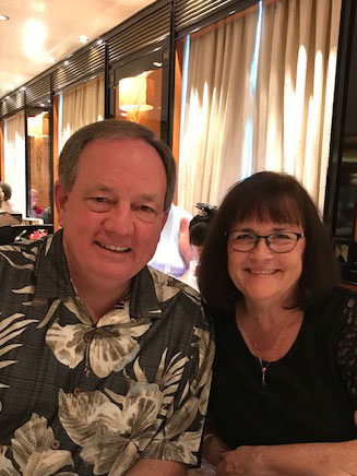 Mike & Donna at dinner
